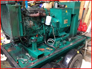 Road Tow Generator with Rebuilt Engine